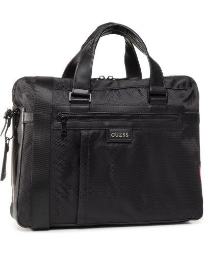 Nylon torba na plecak czarny torba na laptopa Guess