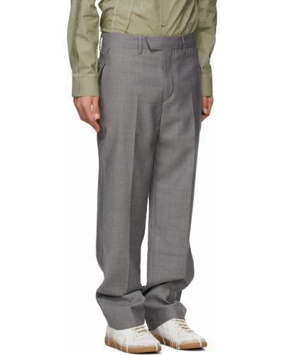 Шерстяные брюки - белые Ader Error