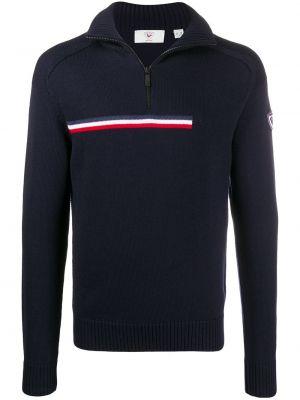 Вязаный свитер - синий Rossignol