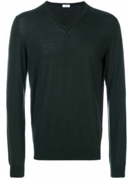 Zielony sweter wełniany Fashion Clinic Timeless