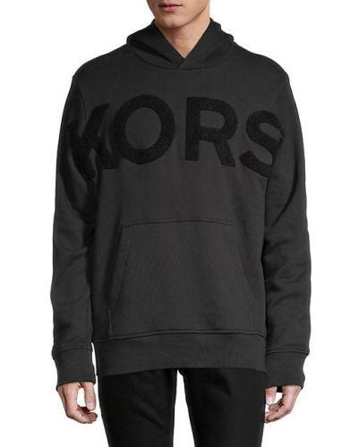 Черное худи с капюшоном с длинными рукавами Michael Kors