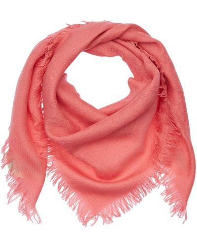 Różowy wełniany szalik Gucci
