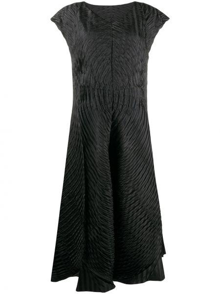 Платье мини миди с V-образным вырезом Issey Miyake