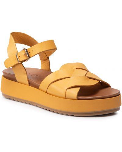 Żółte sandały Inuovo