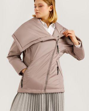 Теплая коричневая утепленная куртка Finn Flare