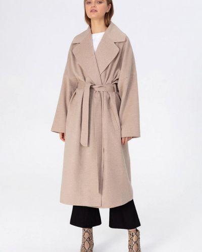 Пальто демисезонное бежевое Pepen