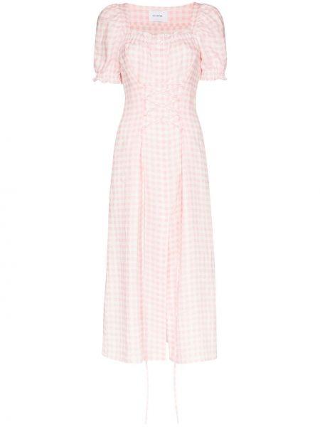 Różowa sukienka długa Sleeper