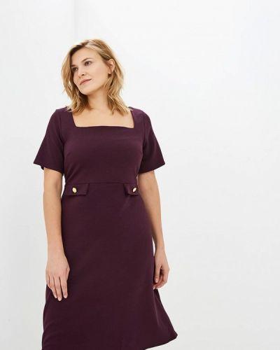 Повседневное платье осеннее фиолетовый Dorothy Perkins Curve