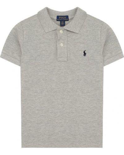 Серое поло с логотипом Polo Ralph Lauren