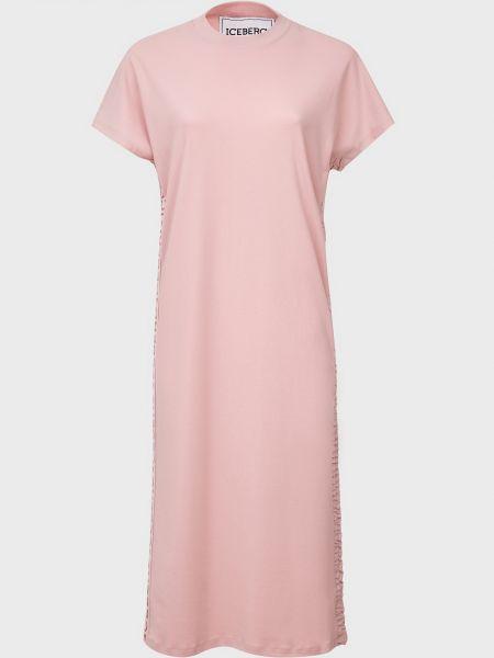 Хлопковое розовое платье Iceberg