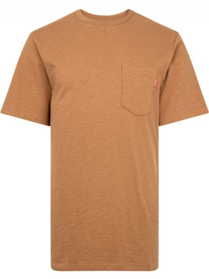 Brązowa t-shirt krótki rękaw bawełniana Supreme