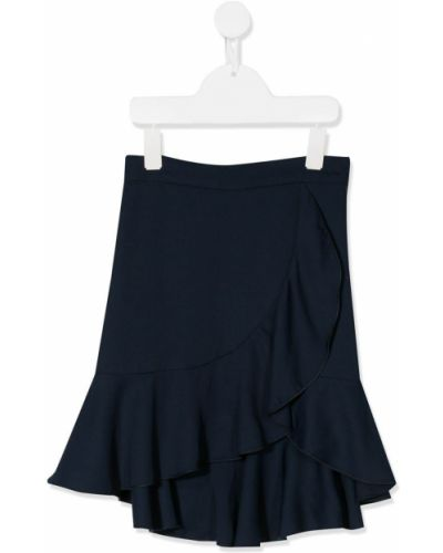 Синяя асимметричная юбка с оборками 12 лет Lapin House