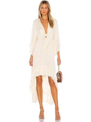 Белое платье с люрексом с подкладкой Sundress