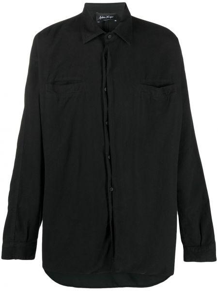 Черная классическая рубашка с воротником с манжетами на пуговицах Andrea Ya'aqov