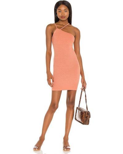 Бежевое трикотажное вечернее платье с декольте Enza Costa