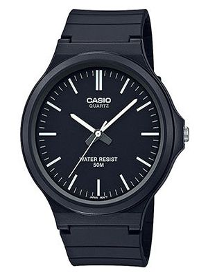 Часы водонепроницаемые темный с черным циферблатом Casio