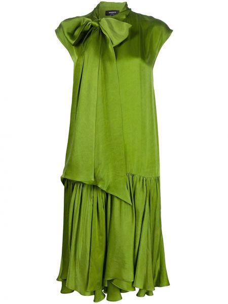 Платье миди средней длины - зеленое Rochas
