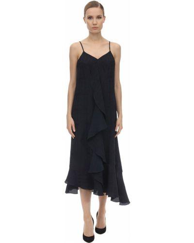 Платье миди с V-образным вырезом Victoria Beckham