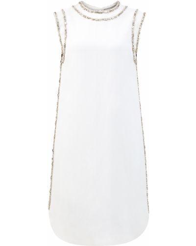 Белое платье трапеция без рукавов Ermanno Scervino