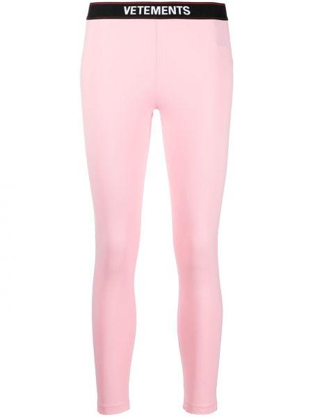 Розовые леггинсы эластичные Vetements
