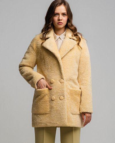 Пальто из овчины - желтое каляев