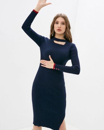 Синее вязаное платье Felix Hardy
