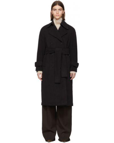Длинное пальто оверсайз без воротника Harris Wharf London