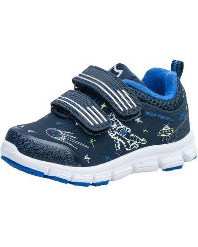 Синие кожаные кроссовки с подкладкой котофей