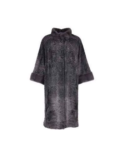 Серое пальто из каракульчи Bellini