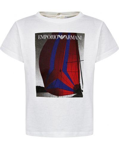 Белая футболка Armani Junior