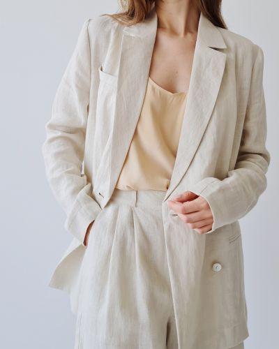 Льняной пиджак - бежевый Stl.katin