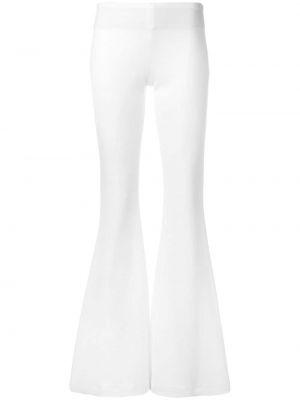 Białe spodnie z wiskozy rozkloszowane Galvan
