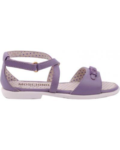 Босоножки фиолетовый Moschino