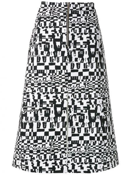 Хлопковая черная юбка с карманами Andrea Marques