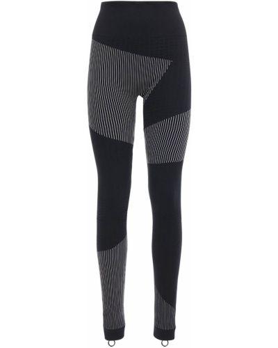 Czarny legginsy elastyczny z mankietami Off-white