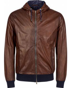 Шерстяная куртка - коричневая Barba Napoli