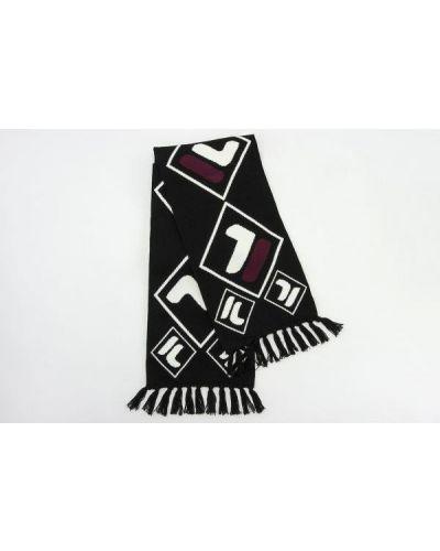Czarny szalik bawełniany Fila
