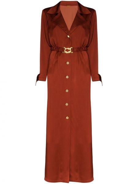 Платье макси на пуговицах с поясом Dodo Bar Or