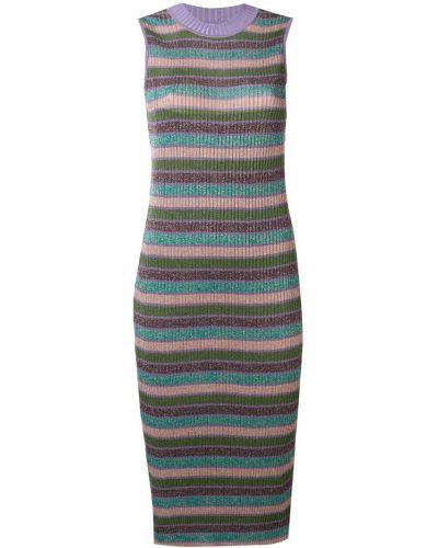 Платье миди в рубчик - розовое Mcq Alexander Mcqueen