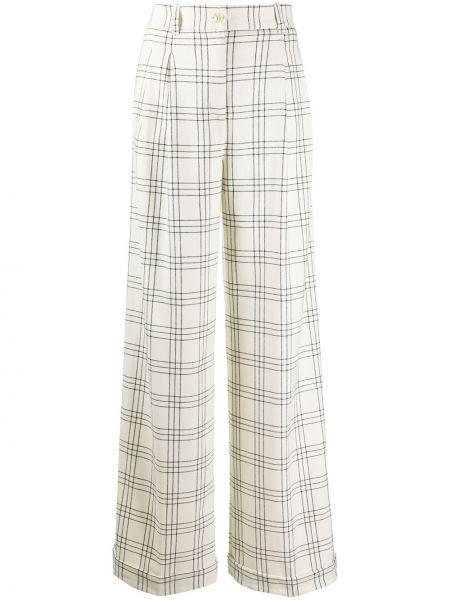Шерстяные расклешенные брюки с потайной застежкой Twin-set
