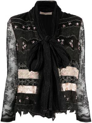 Шелковый кружевной черный пиджак A.n.g.e.l.o. Vintage Cult