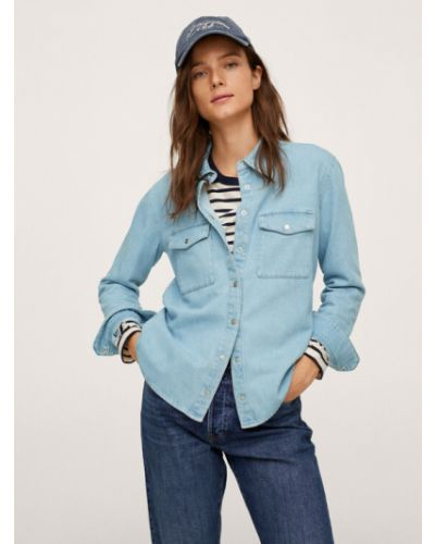 Bluzka - niebieska Mango