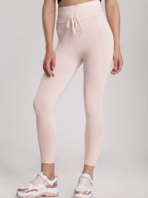 Różowe legginsy materiałowe Renee
