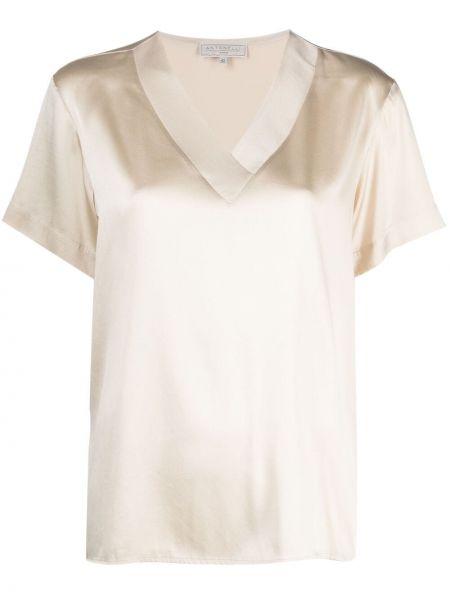 Прямая футболка с вырезом с короткими рукавами Antonelli