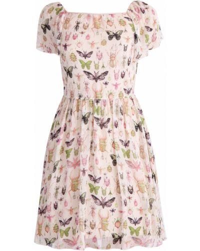 Платье с V-образным вырезом шелковое Redvalentino