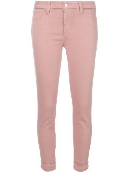 Укороченные джинсы с поясом на пуговицах с пайетками J Brand
