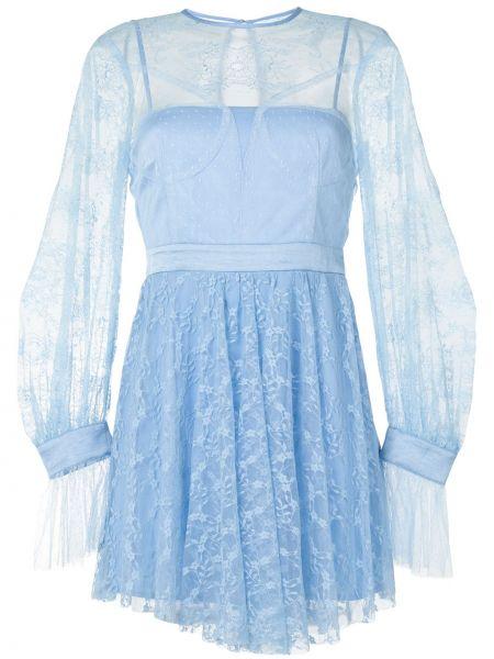 Платье на пуговицах со вставками прозрачное с вырезом Alice Mccall
