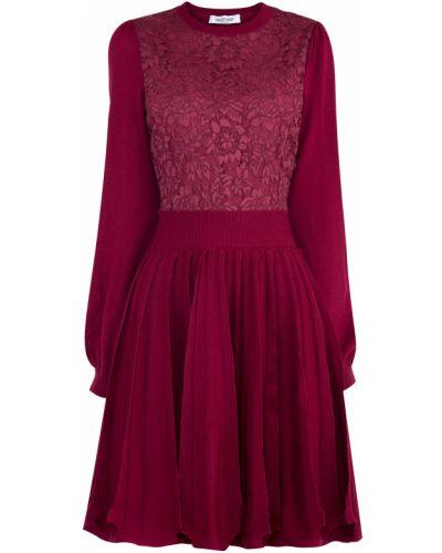 Платье с поясом с оборками расклешенное Valentino