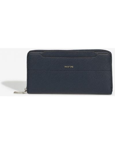 Кожаный кошелек большой синий Parfois