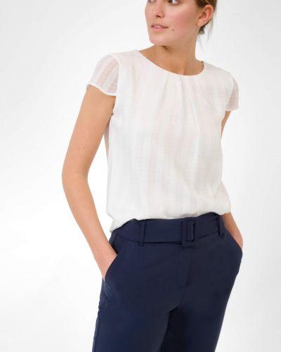 Bluzka elegancka w paski krótki rękaw Orsay